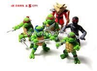 Cartoon  Teenage Mutant Ninja Turtles PVC Figure Leonardo Action figure Model Children gift  kids Toys free shipping 6pcs/Set