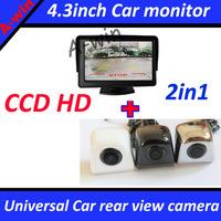 """HD CCD Universal car rear view backup camera for all car Parking camera + LCD 4.3"""" Car monitor  HD"""