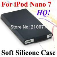 HQ Soft Silicone Rubberized Case Cover Slim Skin For Apple iPod Nano 7 7th Gen(Black)  Free shipping