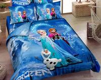 NEW Frozen Bedding Sets Frozen Comforter Set Princess Elsa Frozen Olaf Bed Set Frozen Quilt Cover + Frozen Bed Sheet