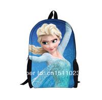 2014 Time-limited Special Offer Zipper Girls Frozen Backpacks Children School Bags Elsa Princess 40*28*14cm Frozenfree Shipping