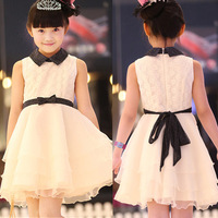 Star of the same paragraph 2014 summer models children dress girls sleeveless dress princess dress children's clothing wholesale