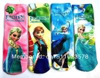 12pcs/lot Frozen Socks Frozen Elsa & Anna Kids Socks Girls Frozen Princess Frozen Cotton Socks for ChildrenFree Shipping