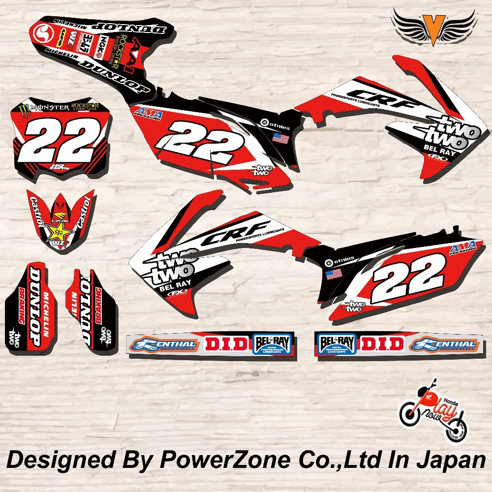 CRF XR CRM 125 250 450 650 Team Graphics Backgrounds Decals Stickers Star Motorcross Motorcylce Dirt Bike MX Racing Parts(China (Mainland))