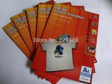 A4*30pcs=20 pcs Light+10pcs Dark Color Iron On Transfer Paper Inkjet Heat Transfer Paper Iron-on Transfers For shirt  Clothes(China (Mainland))