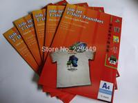 A4*30pcs=20 pcs Light+10pcs Dark Color Iron On Transfer Paper Inkjet Heat Transfer Paper Iron-on Transfers For shirt  Clothes