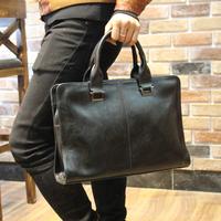 "Leather 13""laptop briefcase business computer bags for men Vintage handbags Cross Briefcases bolsos Shoulder Messenger Bags Tote"