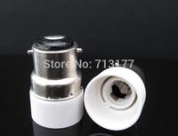 50pcs/lot LED B22 to E14  Base Adapter Converter light Holder  lamp base E14 lamp LED conversion head Free shipping