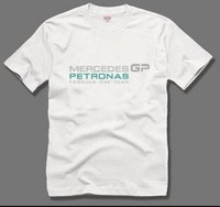 The new Formula One team Mercedes GP F1 male cotton short-sleeved T-shirt logo