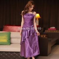Free Shipping Uncommon Fashion 2014 Cool Summer Purple Evening Dress