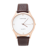 New CAFUER Brand Woman Quartz Business Watch,Woman Military Movement Genuine Leather Watch Girl,Free shipping
