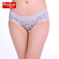 Free shipping8142 wholesale women's cotton modal low-waist briefs female Shi Lei mesh yarn trace their belts