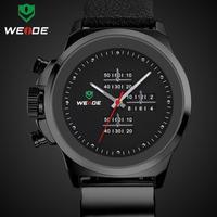2014 NEW HOT WEIDE Men Watch Sports Watches Analog Display Japan Quartz Movement Waterproof Fashion Leather Strap MEN'S Watches