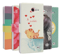 High Quality leather flip Case For THL W11 Case Cover Colored Drawing with stand function