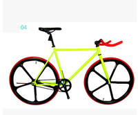 Five knife one wheel fixed gear bike ride down the highway and 26 inch retro leopard zebra Fixed Gear DIY color