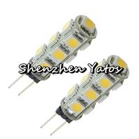 50pcs led G4 light 5050 13smd White (5500-6500K)/ warm white(3000-3200K) led replacement halogen lamp bulbs 12V DC
