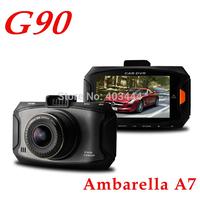 New Original Car Dvrs G90 1920*1080P Full HD Russia Car Camera Ambarella A7 Night Vision Dvr Recorder 170 Degree Free Shipping