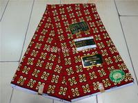 Free Shipping! New design fashion 100% cotton african veritable dutch real print super wax hollandais fabric 6yard S07157