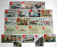 American rustic series vintage car eiffel tower decoration metal painting