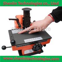 Manual sheet embosser metal stainless steel stamping printer dog tag embossing nameplate marking machine equipment labels tools
