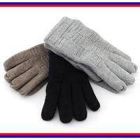 2014 autumn and winter fashion plaid thick gloves, black dark gray brown velvet cotton women short wrist gloves Free Shipping