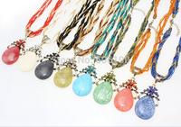HX1066 Promotional Bohemia style antique beads jewelry fashion women's vintage pendant necklaces 16 colors available 12pcs/lot