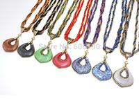HX1074 High quality Bohemia style antique beads jewelry fashion lady's vintage pendant necklaces 13 colors available 12pcs/lot