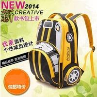 2014 High quality children school bags children backpacks cars children travel bags mochilas school kids rucksack Freeshipping