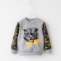 New 2014 Boy's T Shirt T-shirts Long Sleeves Tiger Children's T Shirts Kids Autumn Clothes W3067