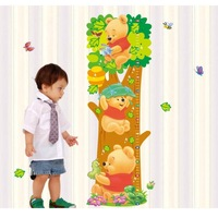 Trees And Bear Pattern Removable Wall Stickers Height Measure For Kids Room Wall Decal Home Decals LM2001