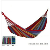 30pcs/lot EMS FAST Canvas 280 X 80cm Single hammock tourism outdoor furniture camping hunting Fabric Stripes double bearing