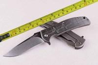 Free shipping 8''New Design Ball Bearing System D2 Stonewash Blade Full Ti Pocket Knife DF28