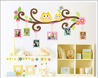 Free Shipping:Hot Selling photo frame Wall Decals / owl wall sticker/DIY Decoration Fashion Wall Sticker/ Vinyl Adhesive Sticker