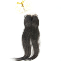 Queen Hair Products Chinese Virgin Hair Straight, Middle Parting Top Lace Closure(5''*5'') , Hair Extensions Cheap Price