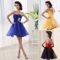 New arrivals Fashion Simple Bridesmaid Dresses wedding for girls Sweetheart Waiste Shoet Evening Dresses 2014 Black
