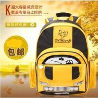 2014 NEW Tran-sformer Orthopedic School Bags children backpack cars Cartoon Bookbag Big Mochila Infantil kids backpack freeship