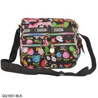 2013 New Arrival Free Shipping Front Zip Detail 3 Colors Small Bags Women Handbags Cartoon Pattern Cross Body Bag QQ1657
