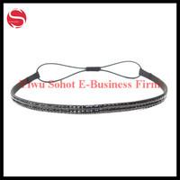 Girl Elastic Fashion Crystal Rhinestone Head Jewelry Headband Hair band Wholesale