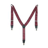 Men's Unisex Pants Y-back Clip-on Suspender Red Brace Elastic Plain Pants Strap Clip Free Shipping