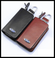 Car specific for Ford Focus Mondeo Escape Kuga Ecosport PU leather key case, black and brown
