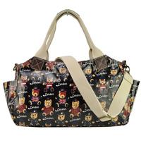 Free Shipping 2014 New Arrival Women Handbag Fashion Printing Haandbags Tote Bag Cartoon Bear Oil Cloth Shoulder Bags QQ1763