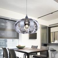 New arrive mirror stainless steel pendant lights led crystal lamp living room modern brief restaurant pendant Lamp E27 95V-265V
