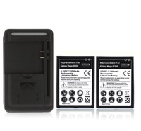 New Arrival 2x 3500mAh Battery + Wall Charger for Samsung Galaxy Mega 6.3 i9200