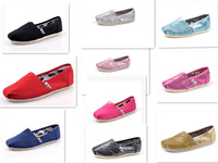 3pair  Wholesale boys girls shoes sequined shoes, EVA kids classic flat canvas shoes 10 styles Size :25-34