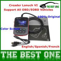 2014 GENUINE 100% Original Globle Version Lanuch Creader 6 OBD2 Code Reader Launch Creader VI 5 Languages With LCD Color Screen
