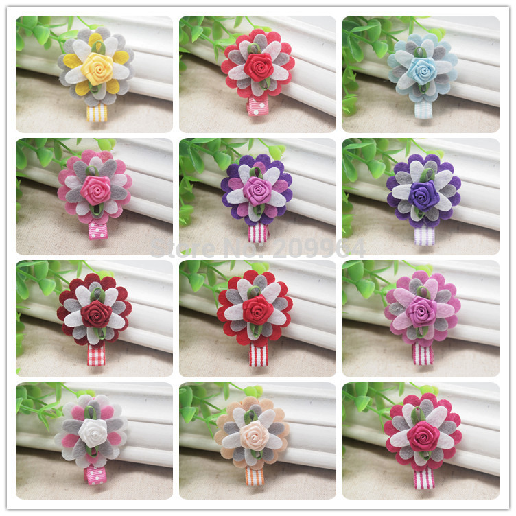 Special sunflower hairclip or baby girl hairbow headwear -Free shipping 24pcs/lot free shipping(China (Mainland))