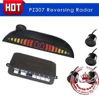 Car LED Parking Reverse Backup Radar System With Backlight Display+4 Sensors Free Shipping