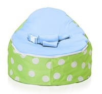 Free shipping Baby Toddler Kids Portable Bean Bag Seat / Snuggle Bed  , 2 in 1 baby seat, o beanbag chair green white dot blue