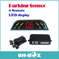 New PZ303 LED Digital Car Parking Sensor Backup Reverse Radar Alert System with 4 Sensors Free Shipping