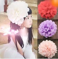 Free shipping Children hair accessories Girl headband chiffon big flowers Hair bands/Bridal Party Head flowers 3pcs/lot